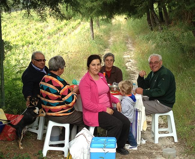 Portuguese family picnic.