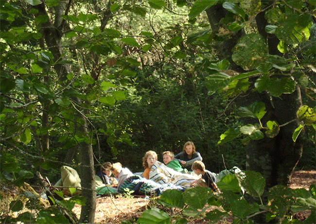Open air sleeping on the island.